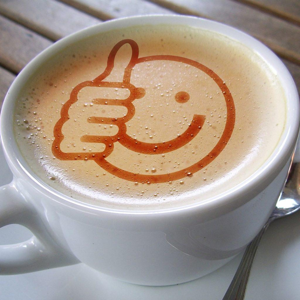 kawa z uśmiechem