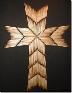 Krzyż z zapałek